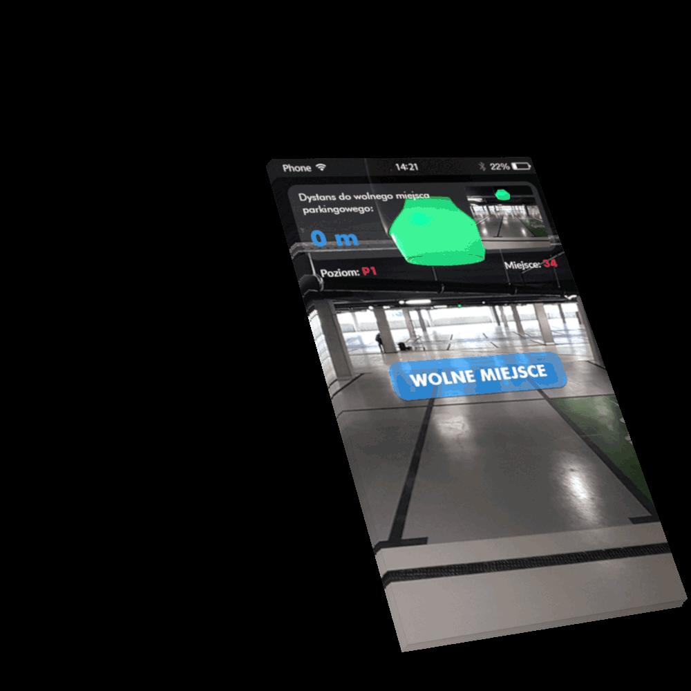 Zrzut ekranu aplikacji ParkGuide
