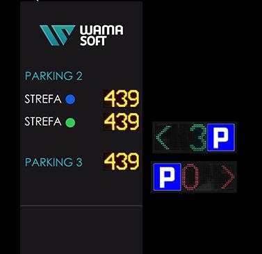 Fotografia przedstawiająca tablice informacyjną systemu ParkGuide